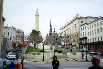[Photograph of Mt. Vernon Place, Baltimore City]