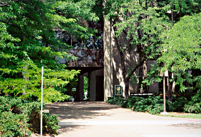[color photograph of Department of Natural Resources entrance]