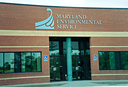 [color photograph of Maryland Environmental Service building]