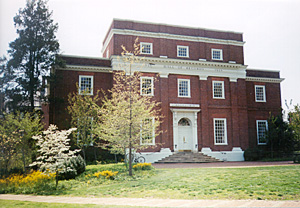 [Color photograph of First Hall of Records Building on campus of St. John's College]