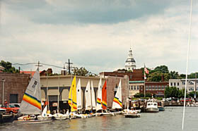 [color photograph of Annapolis City Dock]