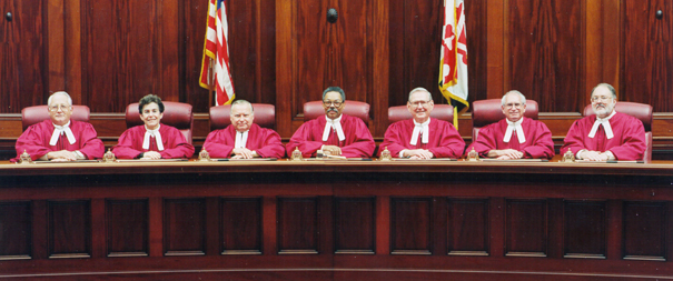 [Color photograph of Court of Appeals Judges]