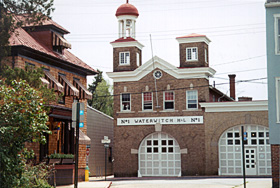 [color photograph of Waterwitch firehouse]